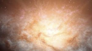 Galaxy Shines With Light Of 300 Trillion Suns